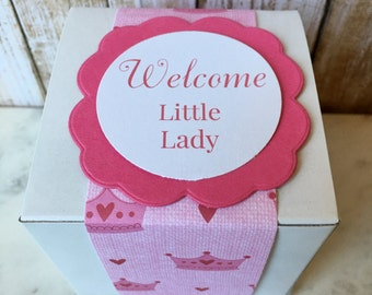 8 ~ Baby Shower Favor Boxes, Personalized Baby Shower box, Baby Shower favors