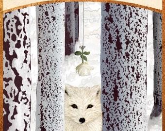 arctic fox tarot print