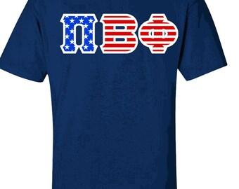 Pi Beta Phi Twill American Flag Tee