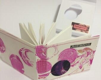Gypsy Journal, smoky magenta, handbound journal in a box