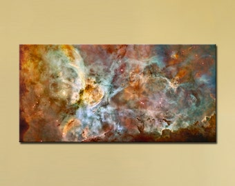 "The Carina Nebula, Star Birth in the Extreme (Color)  (24"" x 48"") - Canvas Wrap Print"