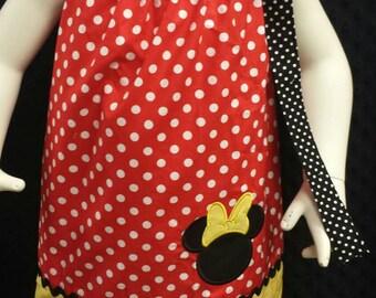 Minnie mouse pillowcase dress, girls minnie dress, Pillowcase dress, Disney dress, princess dress