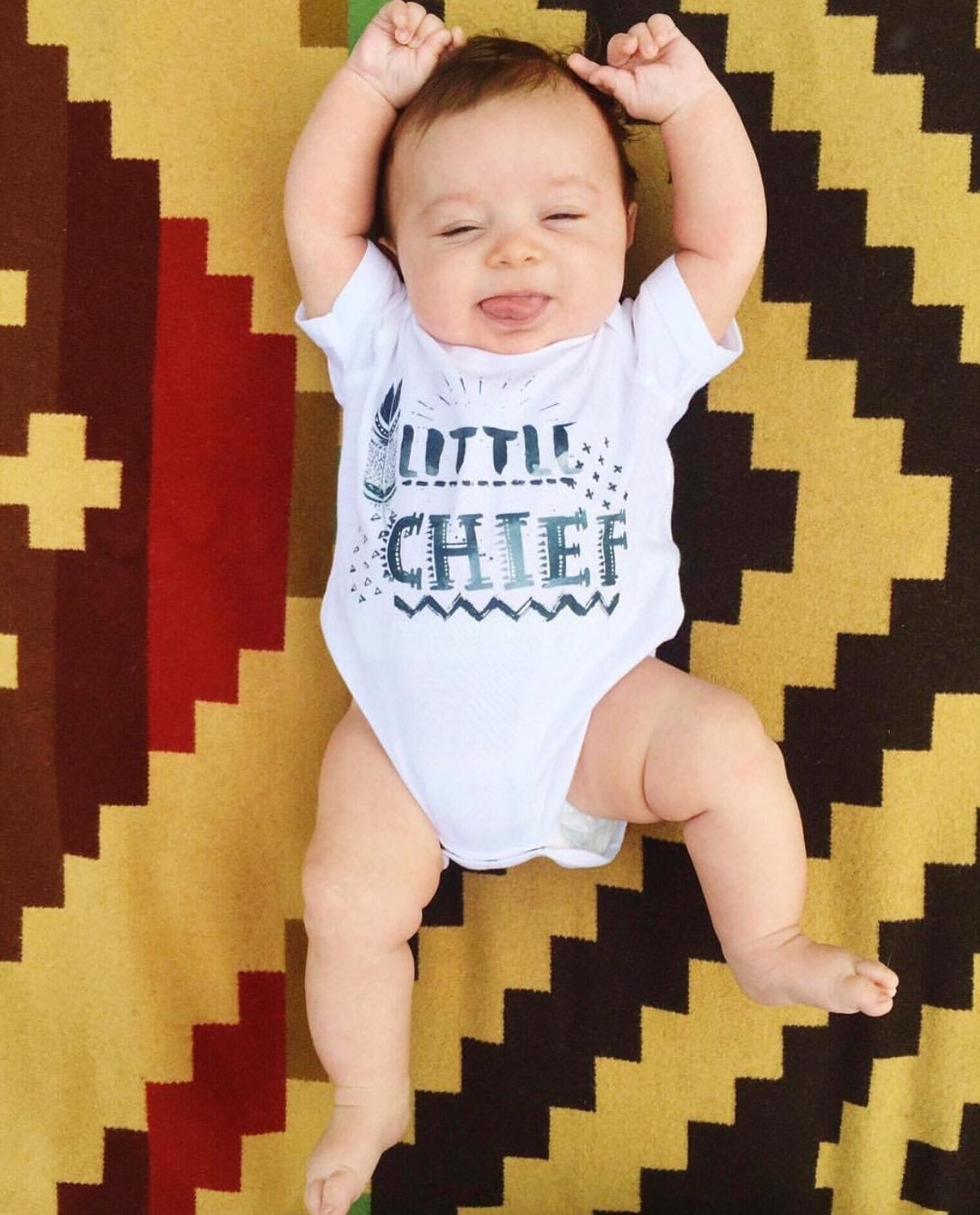 Little chief native american boho hippie feather tribal baby