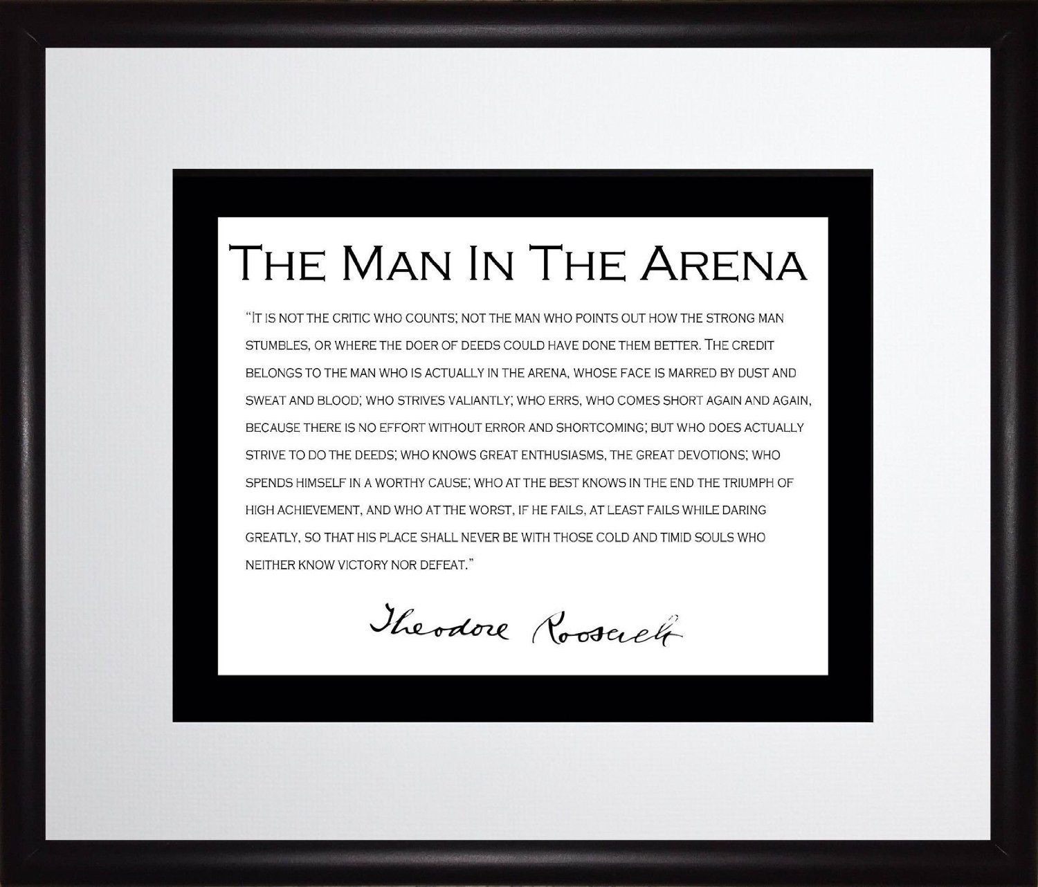 Theodore Teddy Roosevelt Man In The Arena Quote
