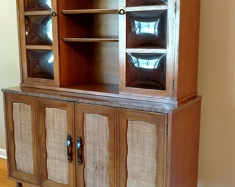 Vintage Garrison Furniture Company Hutch / China Cabinet