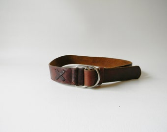 Vintage Brown Leather Eddie Bauer Belt
