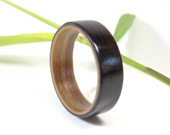 Wedding Ring From Walnut and Ebony //  Wooden ring // Engagement ring // weeding band // Ring for men // Ring for women // Jewelry for men