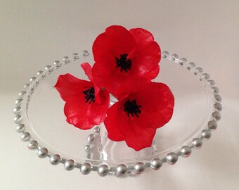 Edible Poppies, Wafer Paper Flowers for Cakes