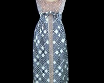 Pauline Trigere dress, 1960s heavily beaded gown, rhinestones pearls, peach, black white herringbone plaid lurex lamé skirt, French couture