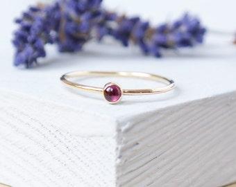 Gold Ring, Stacking Rings, 9ct gold Ring, Birthstone Ring, Gold Stacking Rings, Garnet Rhodolite Ring, Dainty Ring, Gemstone Ring, Garnet