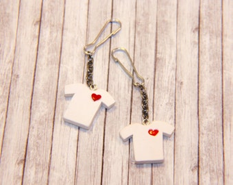 Love You T-Shirt - Set of Keychains for a Couple