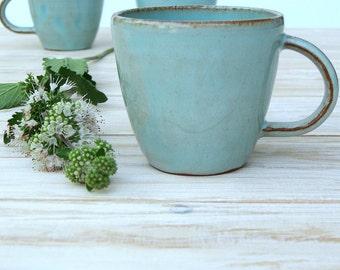 espresso mug, turquoise mug, ceramic mug, handmade coffee mug, coffee lovers gift