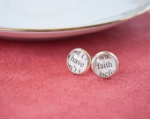 Have Faith Earrings, Faith Jewelry, Inspirational Earrings, Christian Jewelry, Goddaughter Gifts, Inspirational Gifts for Women
