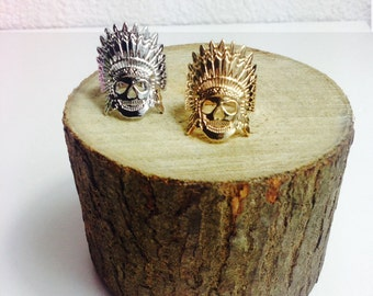 Ring boho - head Indian head, Indian jewelry