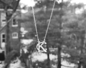 "Kansas City necklace ""small""; KC pendant necklace; Kansas City Royals; KC Chiefs; Kansas City Jewelry"