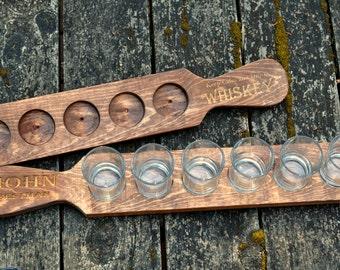 Personalized Beer Flight Paddle Wedding Gift Groomsmen Gift Housewarming Gift Beer Lover Gift Engraved Beer Flight Paddle Beer Taster Tray