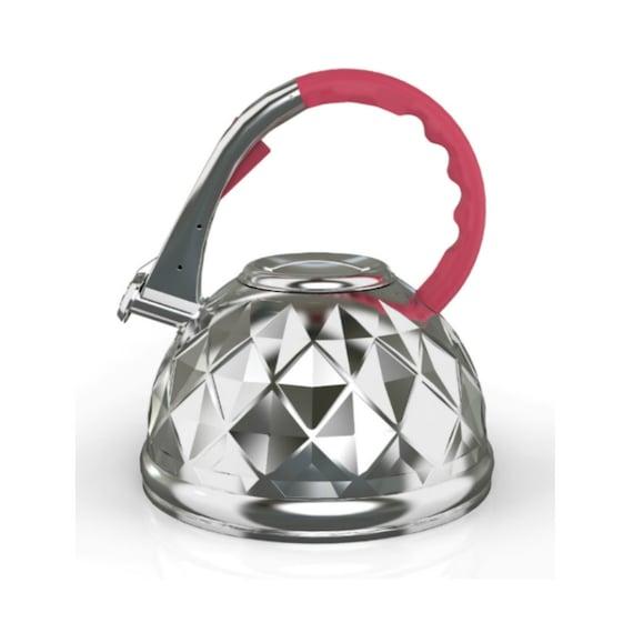 Unique Tea Kettles ~ Whistling tea kettle unique red by
