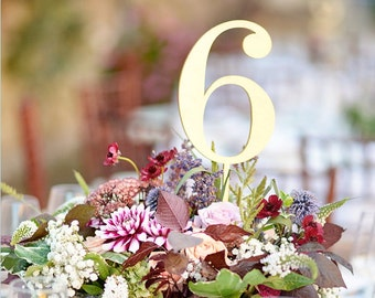 Gold Table Numbers for your wedding.