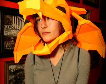 Paper Charizard Mask & Wings
