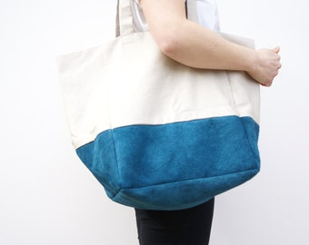 Extra Large Tote Bag. Shopping Bag / Overnight Bag / Modern Bag / Beach