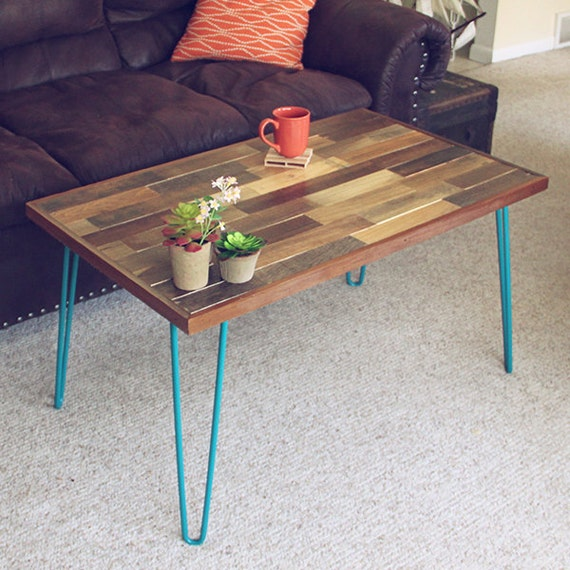 Hairpin Leg Reclaimed Wood Coffee Table