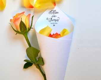 Personalised Confetti Cones. Pack of 10