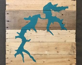Custom Lake Sign - Hand Painted, Wood Pallet Sign, Lake