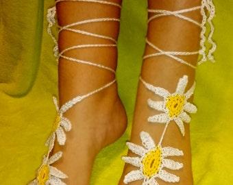 Barefoot Sandals Crochet Ref: S06