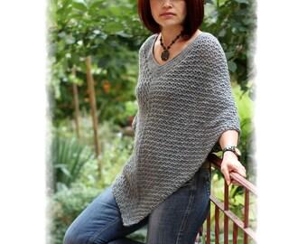 Poncho Crochet PATTERN, Crochet Wrap pdf, Wool Poncho pdf, Wool poncho Pattern, Crochet Charts, Sizes XS|S|M|L|XL, Code: Zeina, GAMMAstudio