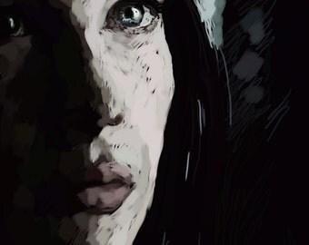 SALE - Small print - Arwen digital painting