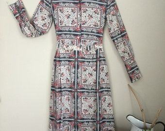 Two-piece Printed Skirt and Blouse Set