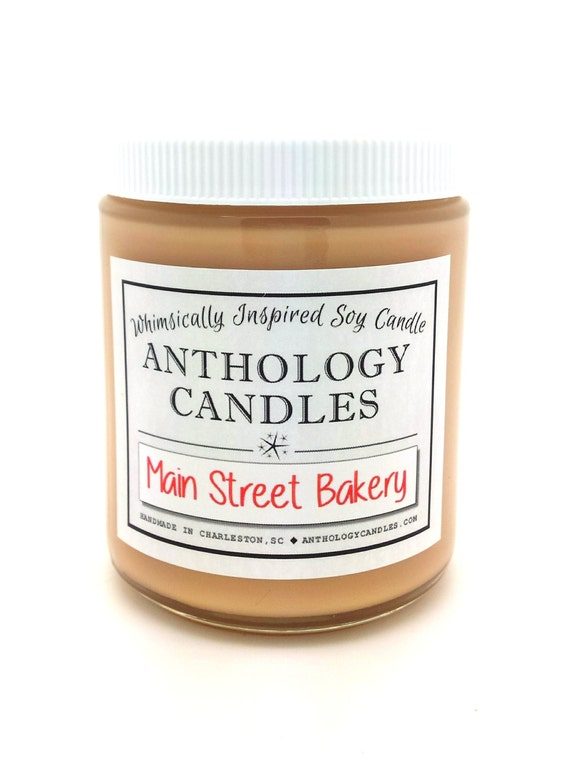 Main Street Bakery Candle - Anthology Candles, Disney Candles, Scented Soy Candle, 8 oz Jar