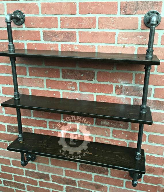 pijp plat muur planken industri le planken industri le. Black Bedroom Furniture Sets. Home Design Ideas