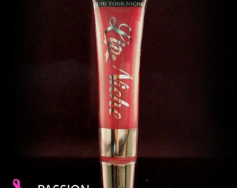 Passion- All Natural Lip Gloss, Hot Pink Color, Fuchsia color.