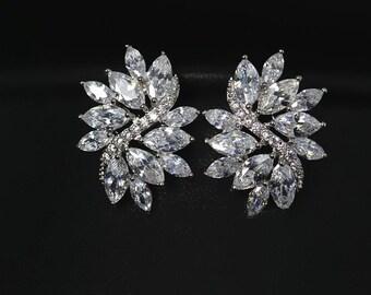 Sale Wedding Earring Studs Bridal Sale Bridesmaid earrings Cubic Zirconia Bridal Earrings Vintage wedding earrings Crystal earrings