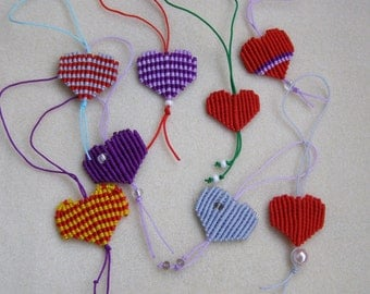 Valentines day gift, Small macrame heart charm Keychain, Gifts for boyfriend, Gifts for girlfriend, Gifts for Her, Gifts for Him
