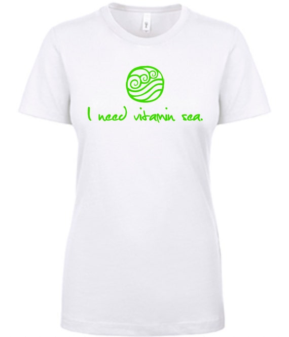 Ladies Tee|  I need vitamin sea | Super Soft | Graphic Tee | T-shirt | Beachy | Salty Girl