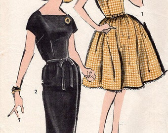 FREE US SHIP Sewing Pattern Advance 2848 Vintage Retro 1960s 60s Teen Dress Size 13 Bust 33 Junior