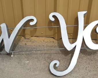"""New York Metal sign 81"""" by 22"""""""