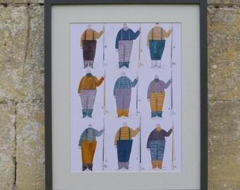 A3 Illustration Print - Fishermen