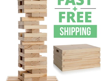 Giant Jenga w/ Optional Crate  **SHIPS TOMORROW**