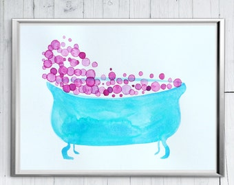 Bathroom Printables - Bathroom Printable - Bathtub Art - Modern Bathroom Art - Bathroom Art Set - Funny Bathroom - Bathroom Picture - Print