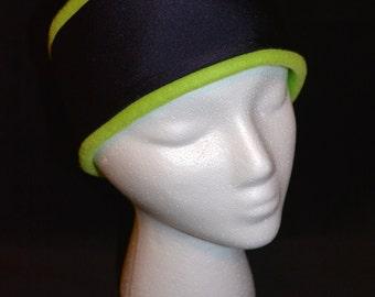 Lime Fleece and NavySpandex Winter Headwear