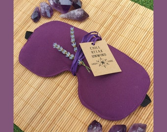 Lavender Eye Mask - Sleep - Aromatherapy - Relaxation - Yoga - Meditation - Savasana