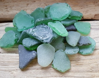Sea Glass -Bulk Beach Glass -Bulk Green Sea Glass -Genuine Baltic Sea Glass