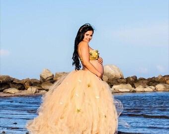 Maternity tutu . Maternity tutu skirt . Maternity photo shoot . Full Length Fluffy Maternity Tutu Skirt . Full Length train tutu