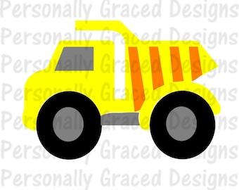 SVG, DXF, EPS Cut file Dump Truck, Construction, Transportation, silhouette cut file, cameo file, Truck cut file,Dump Truck Design