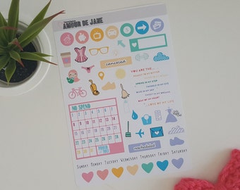 Rainbow Brights Planning Stickers