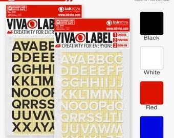iron on appliqu letters custom alphabet hot fix patch heat transfer slogan label name tag set half inch 12mm inkviva