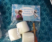Frozen themed tent cards - Do you want to build a snowman?